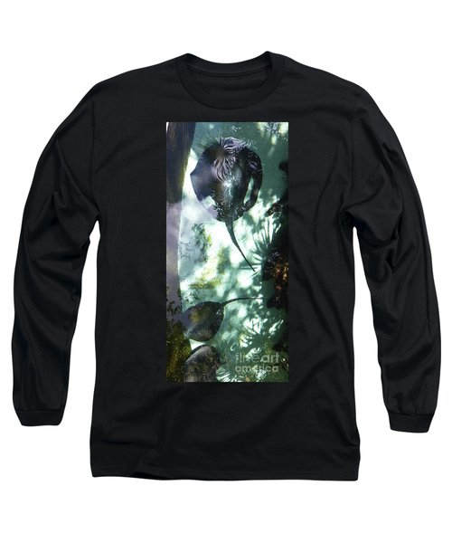 Long Sleeve T-Shirt featuring the photograph Stingray Swim V by Francesca Mackenney