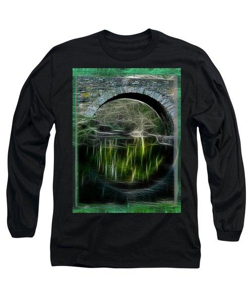 Stone Arch Bridge - Ny Long Sleeve T-Shirt by EricaMaxine  Price
