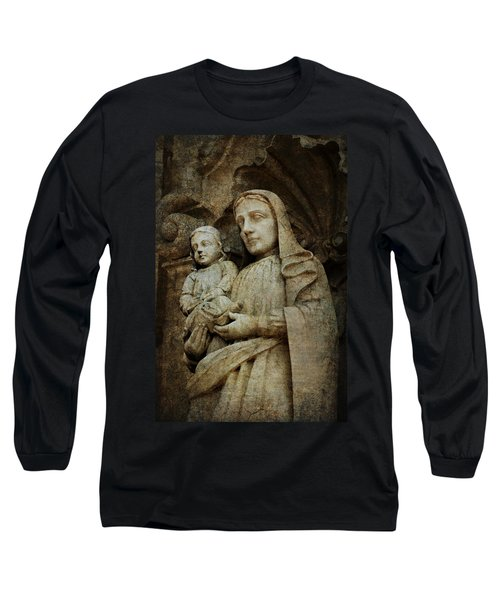 Stone Madonna And Child Long Sleeve T-Shirt