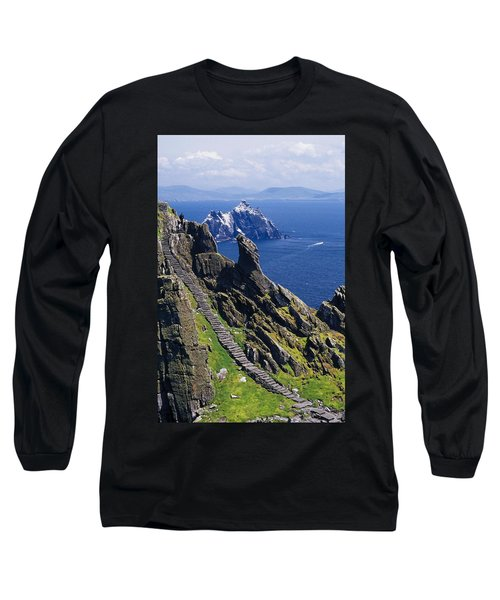 Stone Stairway, Skellig Michael Long Sleeve T-Shirt
