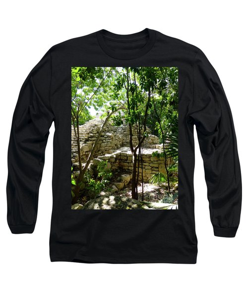 Long Sleeve T-Shirt featuring the photograph Stone Steps In The Jungle by Francesca Mackenney