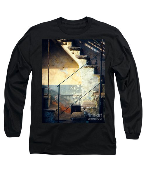 Stone Steps Outside An Old House Long Sleeve T-Shirt