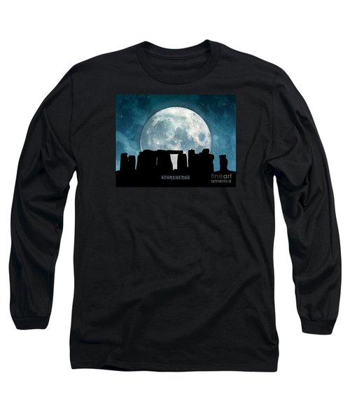 Long Sleeve T-Shirt featuring the digital art Stonehenge by Phil Perkins