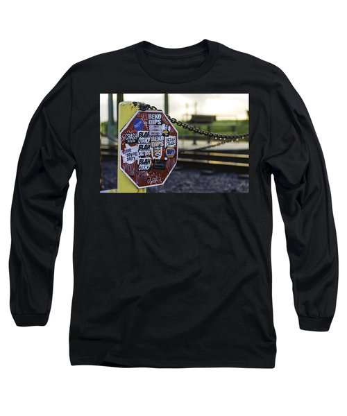 Stop Sign Ala New Orleans, Louisiana Long Sleeve T-Shirt