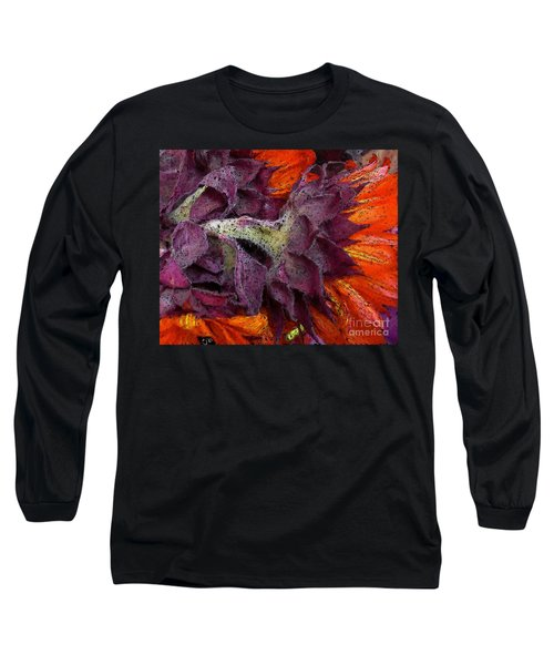 Store Flower Long Sleeve T-Shirt by Ron Bissett