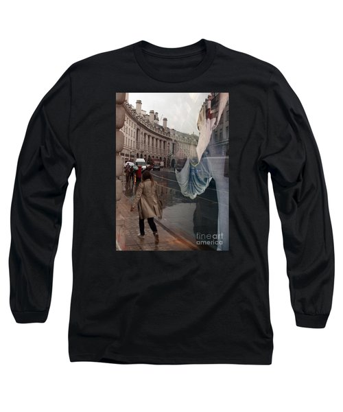 Store Window Reflection Long Sleeve T-Shirt