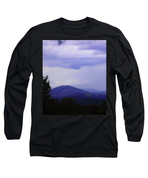 Storm At Lewis Fork Overlook 2014a Long Sleeve T-Shirt