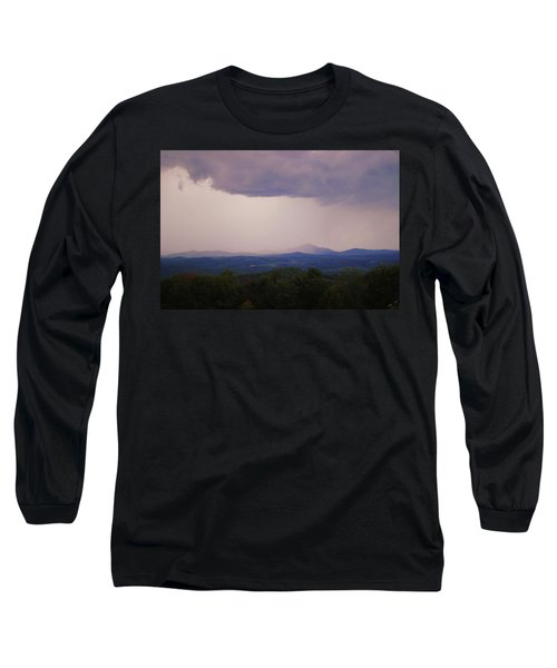 Storm At Lewis Fork Overlook Long Sleeve T-Shirt