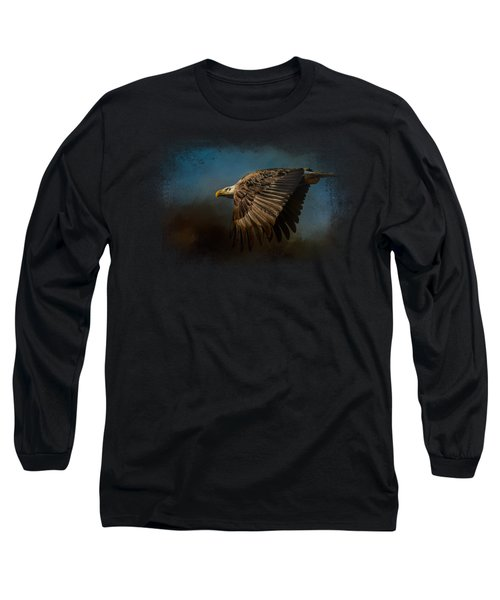 Storm Chaser - Bald Eagle Long Sleeve T-Shirt by Jai Johnson