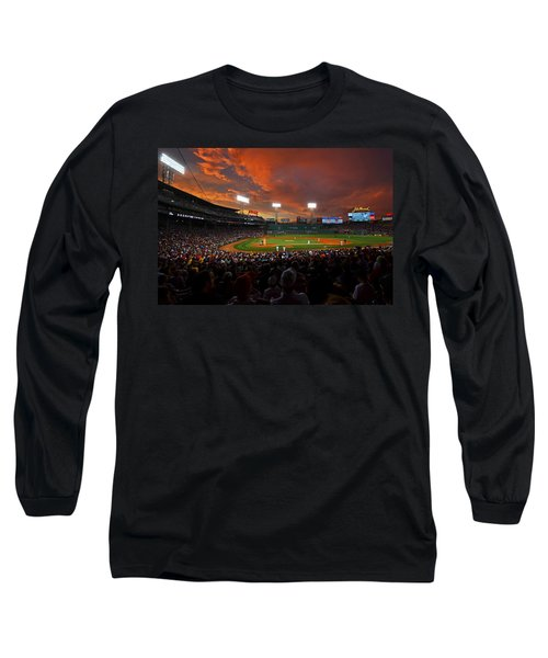 Storm Clouds Over Fenway Park Long Sleeve T-Shirt