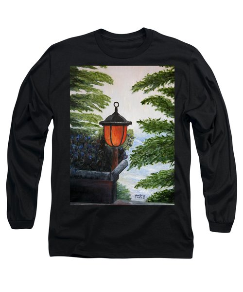 Long Sleeve T-Shirt featuring the painting Storm On Lake Of The Woods by Marilyn  McNish