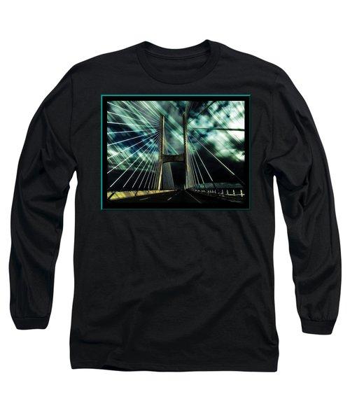 Storm Over The Bridge  Long Sleeve T-Shirt