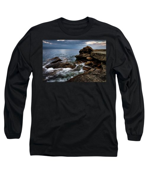 Long Sleeve T-Shirt featuring the photograph Storm Pass Halibut Pt. by Michael Hubley