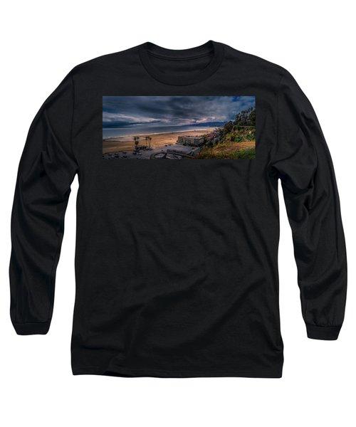 Storm Watch Over Malibu - Panarama  Long Sleeve T-Shirt