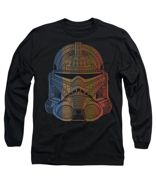 Stormtrooper Helmet - Star Wars Art - Colorful Long Sleeve T-Shirt