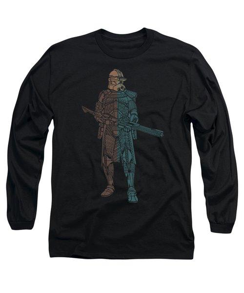 Stormtrooper Samurai - Star Wars Art - Minimal Long Sleeve T-Shirt