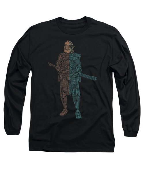 Stormtrooper Samurai - Star Wars Art - Minimal Long Sleeve T-Shirt