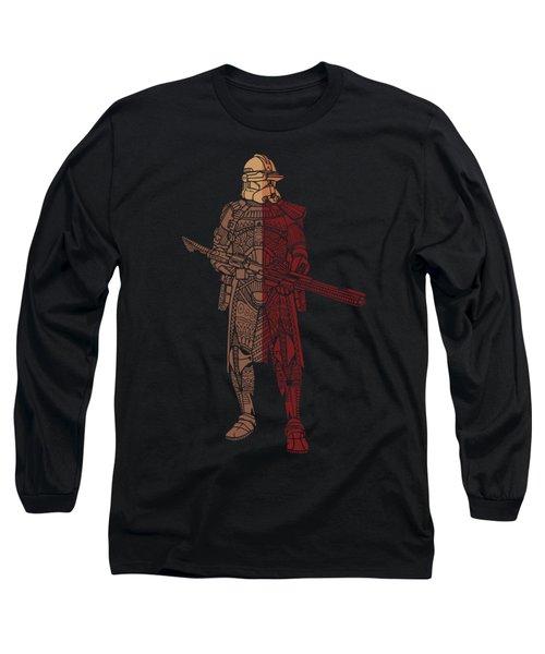 Stormtrooper Samurai - Star Wars Art - Red Brown Long Sleeve T-Shirt