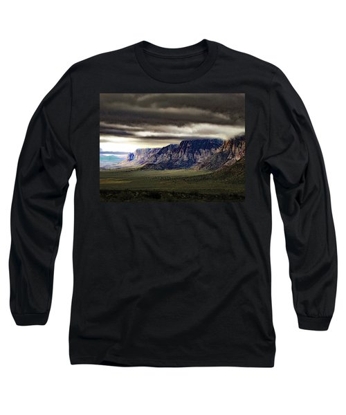 Stormy Morning In Red Rock Canyon Long Sleeve T-Shirt by Alan Socolik