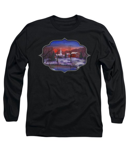 Stowe - Vermont Long Sleeve T-Shirt by Anastasiya Malakhova