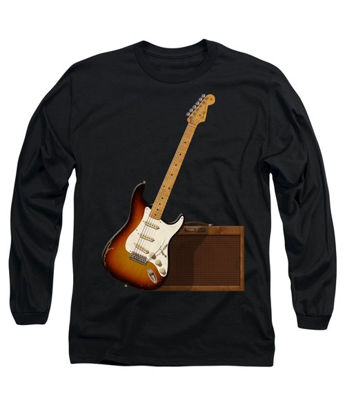 Strat And Tweed Amp Long Sleeve T-Shirt by WB Johnston