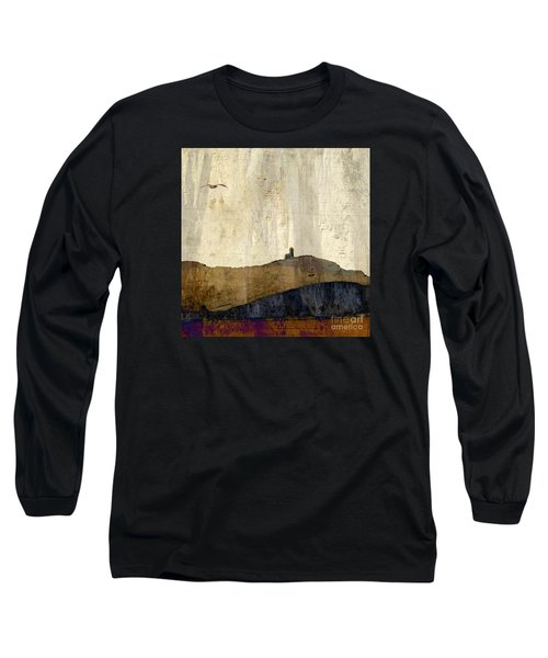 Strata With Lighthouse And Gull Long Sleeve T-Shirt by LemonArt Photography