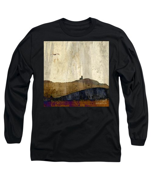 Strata With Lighthouse And Gull Long Sleeve T-Shirt