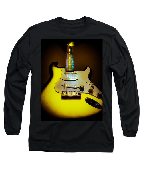 Stratocaster Lemon Burst Glow Neck Series Long Sleeve T-Shirt