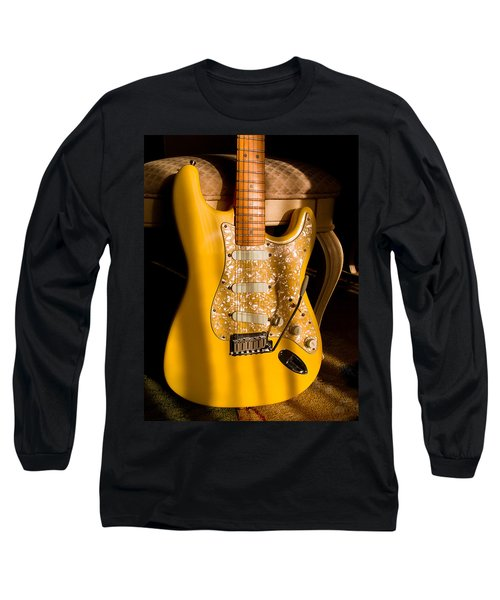 Stratocaster Plus In Graffiti Yellow Long Sleeve T-Shirt