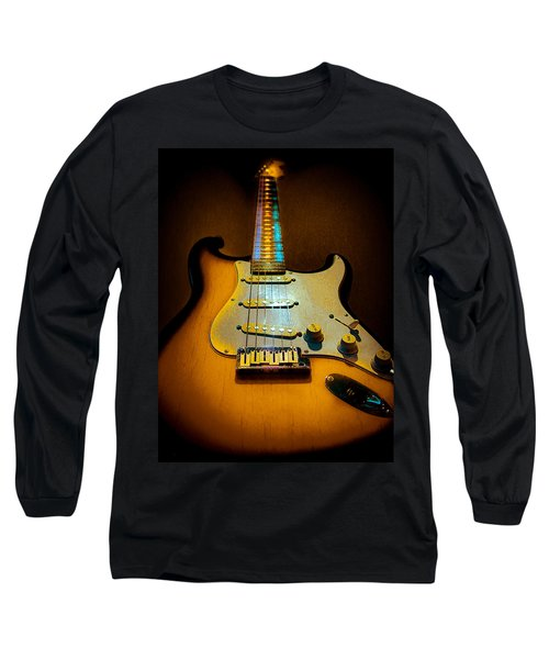 Stratocaster Tobacco Burst Glow Neck Series  Long Sleeve T-Shirt