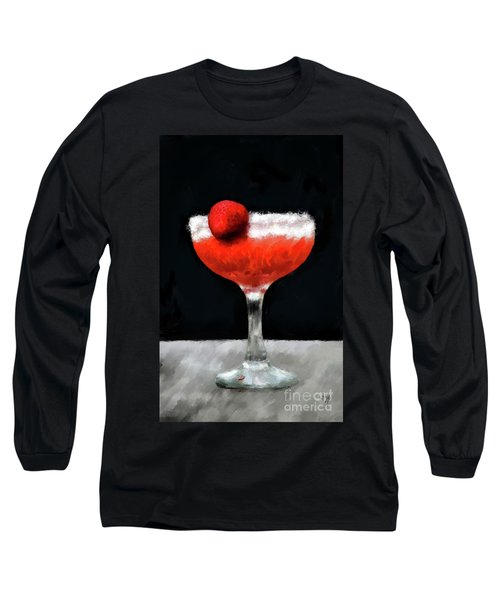 Long Sleeve T-Shirt featuring the photograph Strawberry Margarita by Lois Bryan