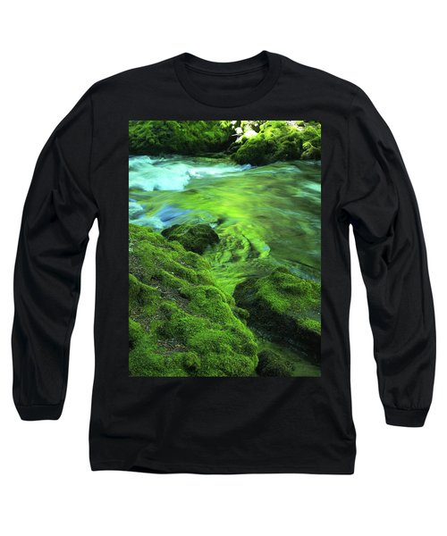 Stream Above Whitehorse Falls Long Sleeve T-Shirt