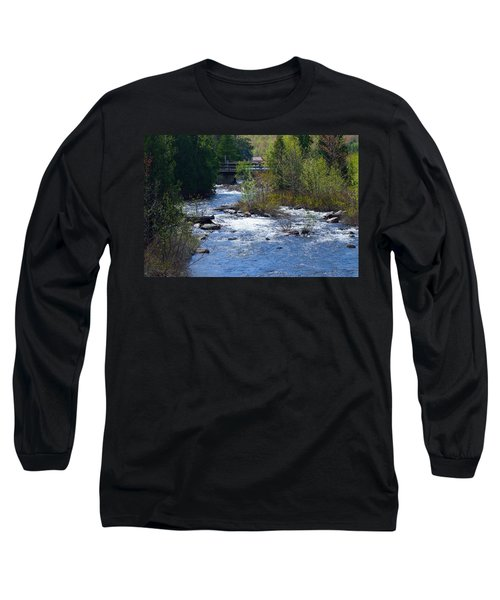 Stream In Spring Long Sleeve T-Shirt by David Porteus