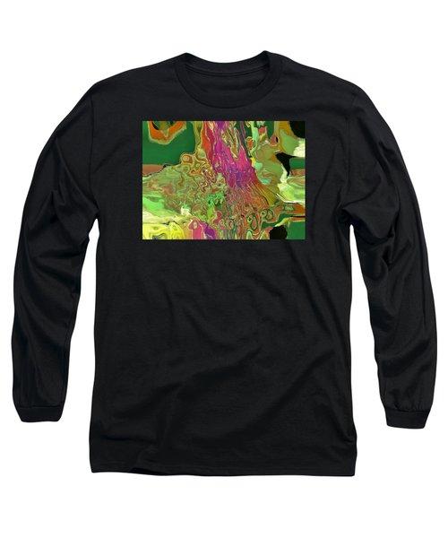 Streaming Saree Long Sleeve T-Shirt by Alika Kumar