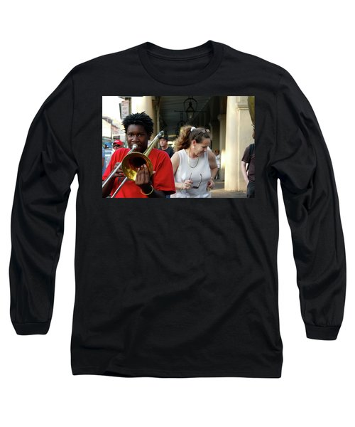 Long Sleeve T-Shirt featuring the photograph Street Jazz by KG Thienemann