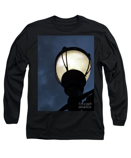 Street Lamp At Night Long Sleeve T-Shirt