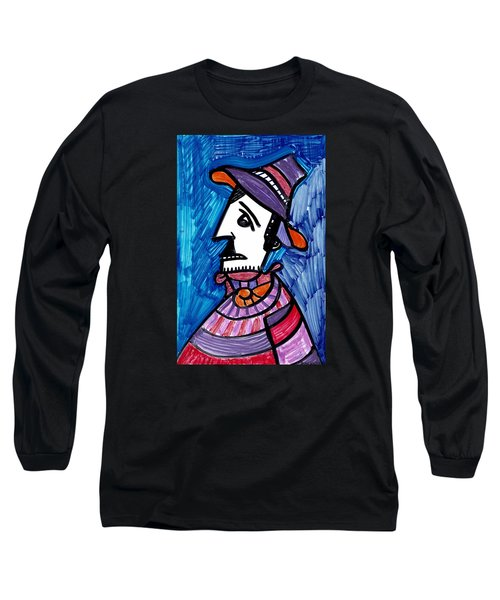 Long Sleeve T-Shirt featuring the painting Street Peddler by Don Koester