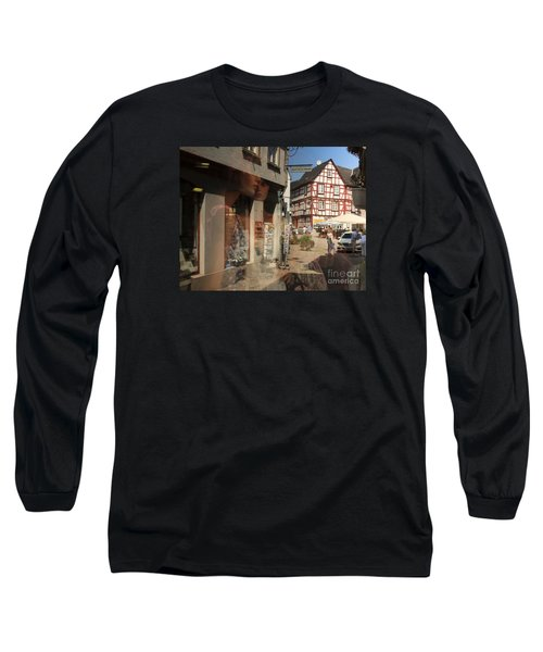 Street Reflected In A Shop Window Long Sleeve T-Shirt