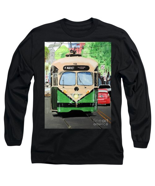 Long Sleeve T-Shirt featuring the painting Streetcar Not Named Desire by Tom Riggs