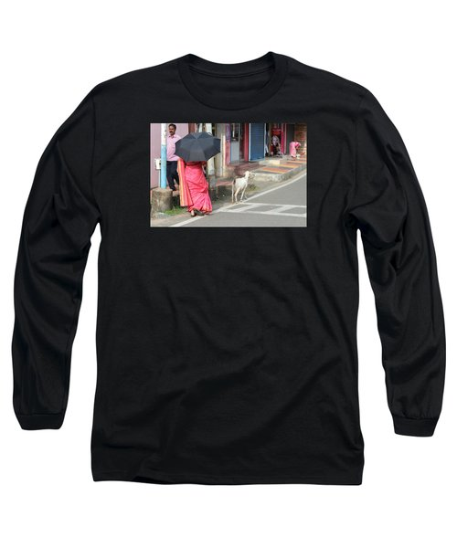 Streets Of Kochi Long Sleeve T-Shirt by Jennifer Mazzucco