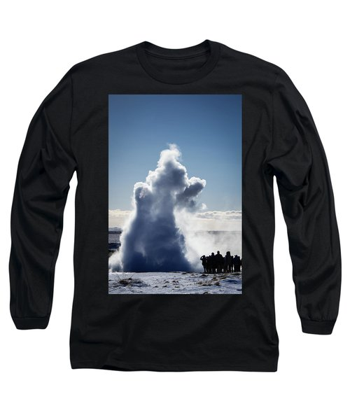 Long Sleeve T-Shirt featuring the photograph Strokkur Geyser In Iceland by Matthias Hauser