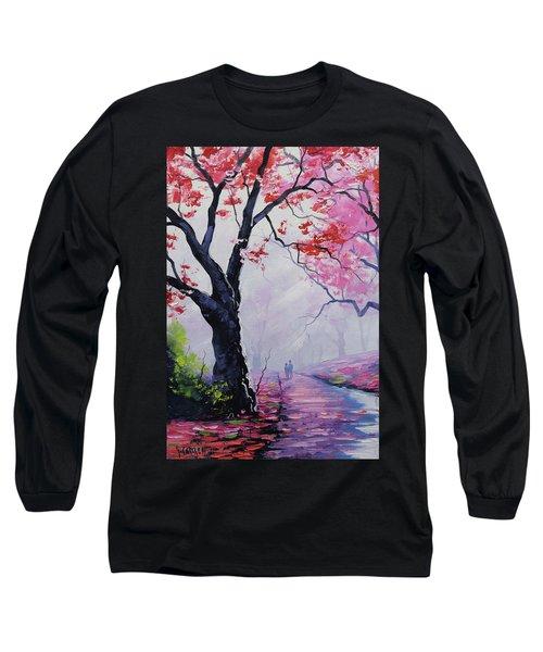 Stroll In The Mist Long Sleeve T-Shirt