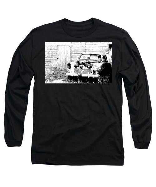 Studebaker Black And White Long Sleeve T-Shirt