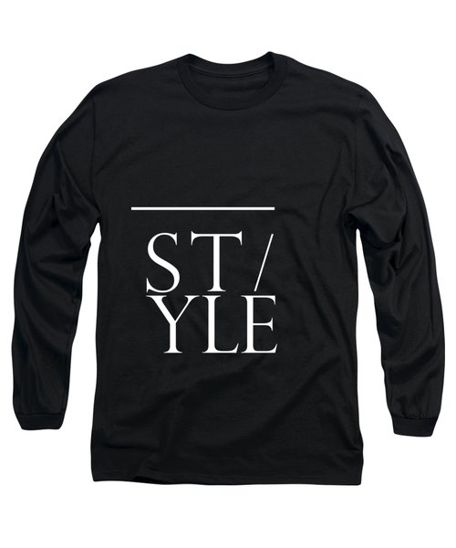 Style 1 - Minimalist Print - Typography - Quote Poster Long Sleeve T-Shirt