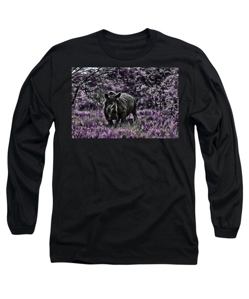 Styled Environment-the Modern Trendy Rhino Long Sleeve T-Shirt