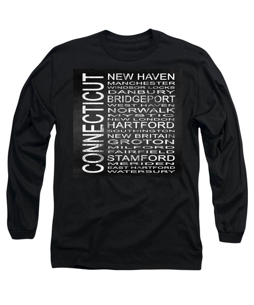 Subway Connecticut State Square Long Sleeve T-Shirt
