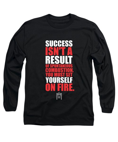 Success Is Not A Result Gym Motivational Quotes Poster Long Sleeve T-Shirt
