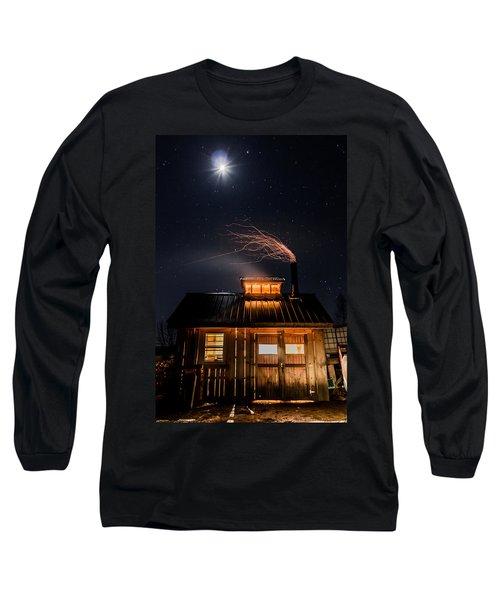 Sugar House At Night Long Sleeve T-Shirt by Tim Kirchoff
