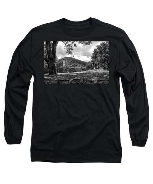 Sugar Plantation Ruins Bw Long Sleeve T-Shirt