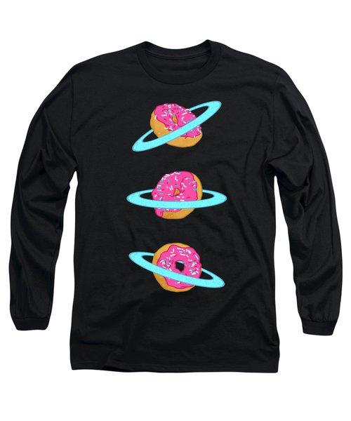 Sugar Rings Of Saturn Long Sleeve T-Shirt by Evgenia Chuvardina